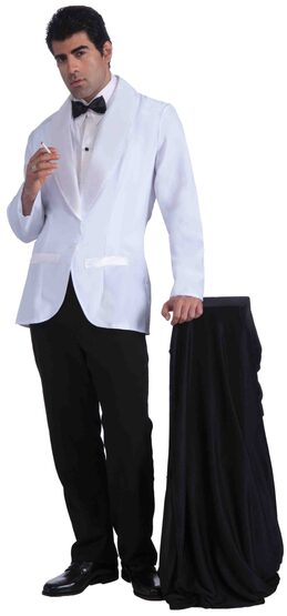 Mens 50s Hollywood White Jacket Adult Costume