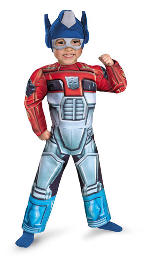 Transformers Optimus Prime Muscle Chest Kids Costume