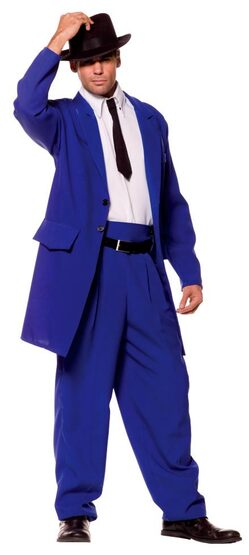 Adult Blue Zoot Suit Costume