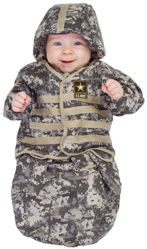 Boys Official US Army Bunting Baby Costume