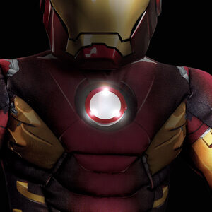Boys Iron Man Light Up Muscle Chest Avengers Kids Costume