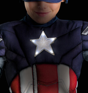 Boys Captain America Light Up Muscle Chest Avengers Kids Costume