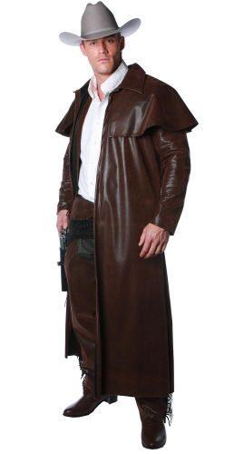 Mens Duster Coat Cowboy Costume