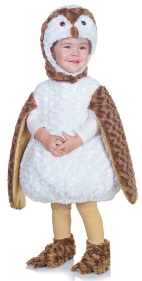 Plush White Barn Owl Baby Costume