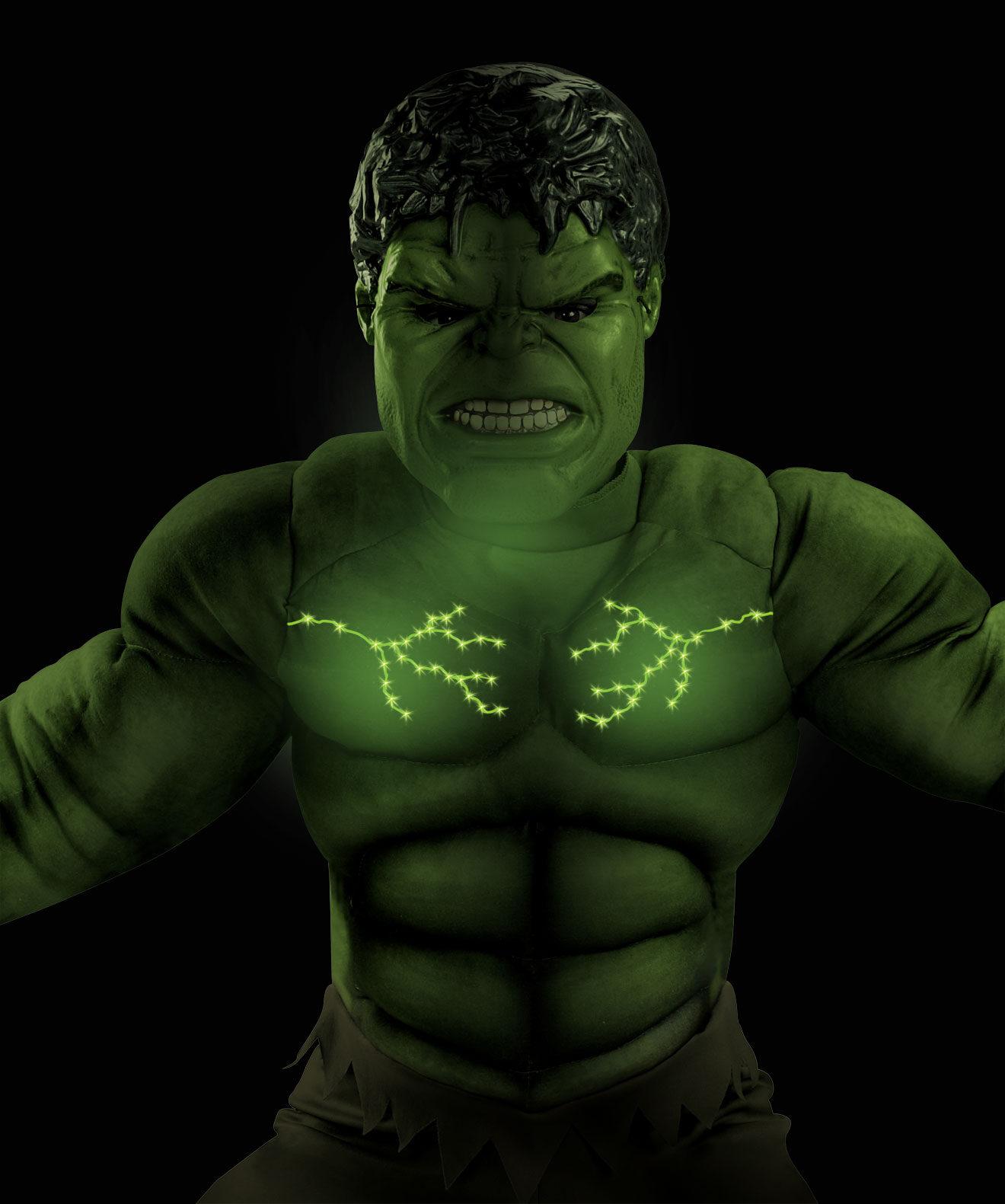 Boys Hulk Light Up Muscle Chest Avengers Kids Costume & Boys Hulk Light Up Muscle Chest Avengers Kids Costume - Mr. Costumes