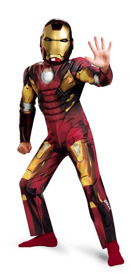 Boys Iron Man Muscle Chest Avengers Kids Costume