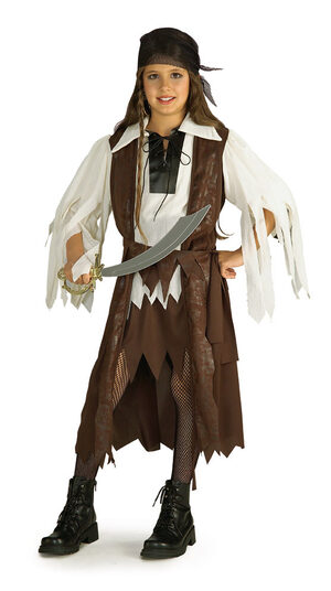 Kids Caribbean Pirate Queen Costume