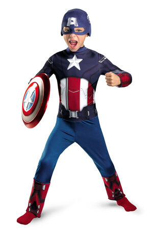 Boys Captain America Avengers Kids Costume