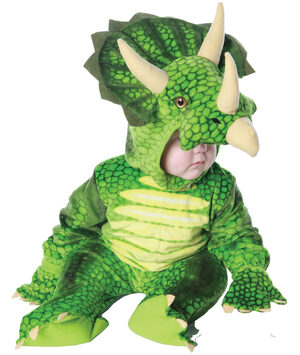 Boys Green Triceratops Dinosaur Kids Costume