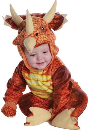 Boys Red Triceratops Dinosaur Kids Costume