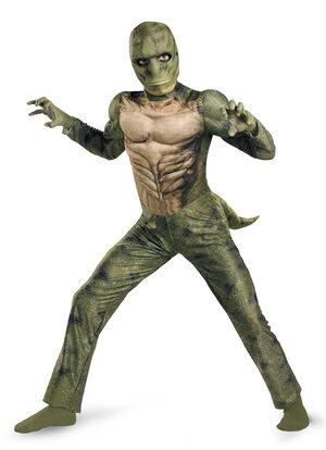 Boys Spiderman Lizard Muscle Chest Kids Costume