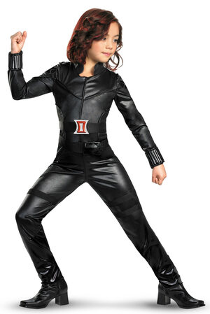 Girls Deluxe Black Widow Avengers Kids Costume