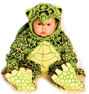 Infant Green Turtle with Shell Kids Costume