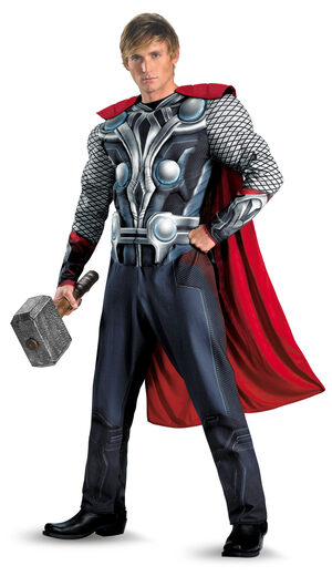 Mens Thor Muscle Chest Avengers Adult Costume