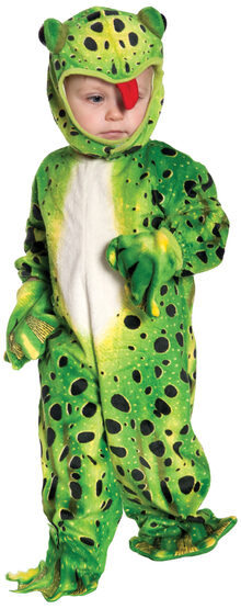 Hoppy Green Frog Kids Costume