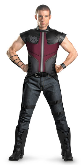 Mens Deluxe Hawkeye Avengers Movie Adult Costume