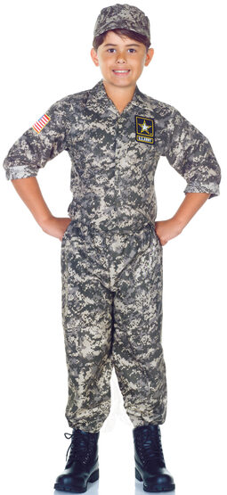 Childs US Army Camo Set Kids Costume