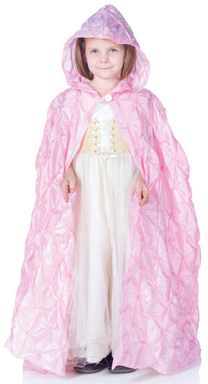 Girls Pink Pintuck Cape