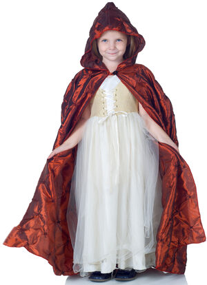 Girls Red Pintuck Cape