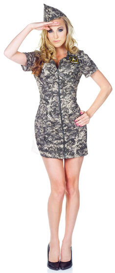 Womens US Army Camo Dress Adult Costume