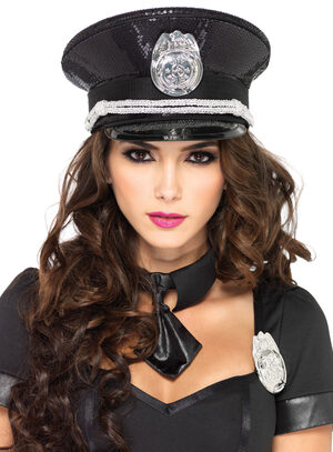 Sexy Sequin Cop Hat