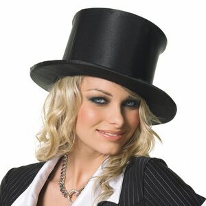 Black Satin Pop Up Top Hat