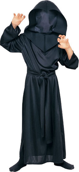 Hidden Face Robe Scary Kids Costume