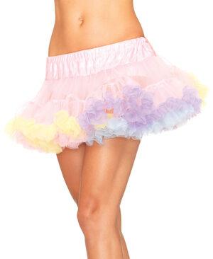 Mini Tulle Rainbow Trimmed Petticoat