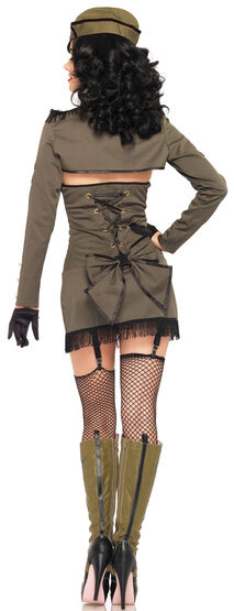 Sexy Pin Up Army Girl Military Costume