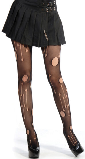Gaping Hole Pattern Pantyhose