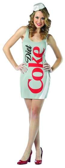 Sexy Diet Coke Dress Food Costume