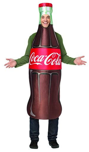 Coca Cola Bottle Funny Adult Costume