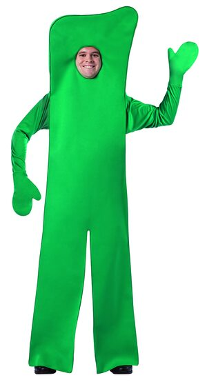 Gumby Open Face Funny Adult Costume