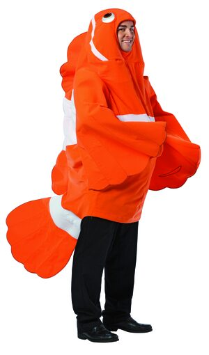 Mens Clever Clownfish Animal Adult Costume