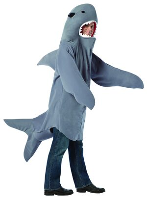 Mens Toothy Shark Funny Adult Costume
