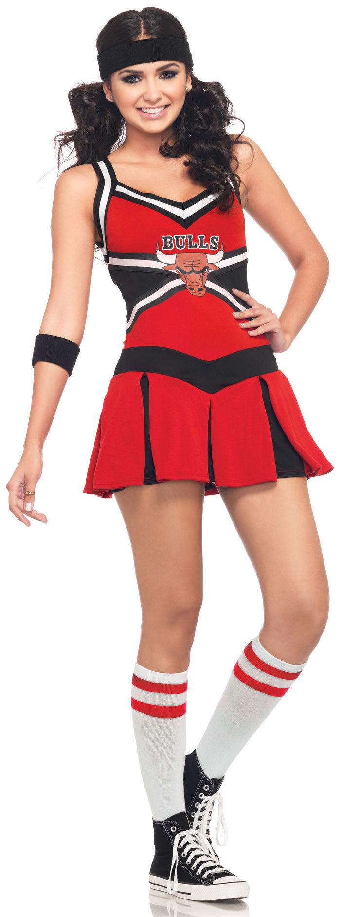Sexy Chicago Bulls Cheerleader Costume  sc 1 st  Mr. Costumes & Sexy Chicago Bulls Cheerleader Costume - Mr. Costumes
