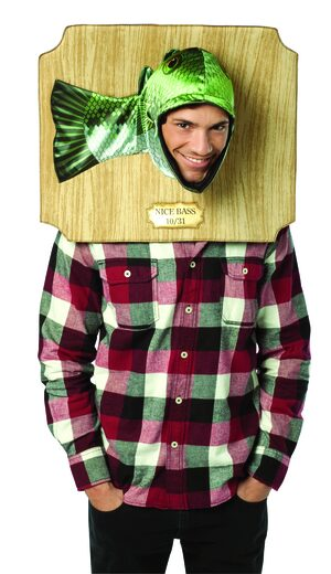 Nice Bass Trophy Funny Adult Costume