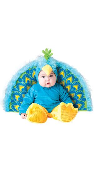 Furry Blue Precious Peacock Baby Costume