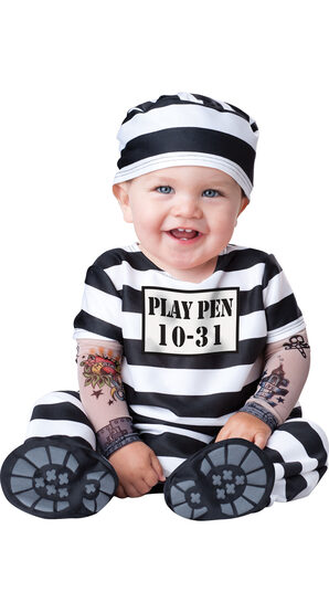 Convict Time Out Baby Costume