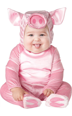 Girls Pink Little Piggy Baby Costume