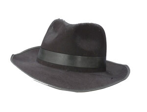 Adult Black Flocked Gangster Hat