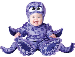 Purple Tiny Tentacles Octopus Baby Costume