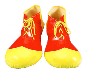 Kids Deluxe Red Yellow Clown Shoes