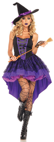 Sexy Womens Broomstick Babe Witch Costume