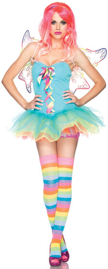 Sexy Rainbow Fairy Halloween Costume