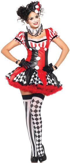 Sexy Harlequin Clown Costume