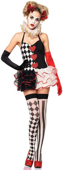 Sexy Sweetheart Harlequin Circus Costume