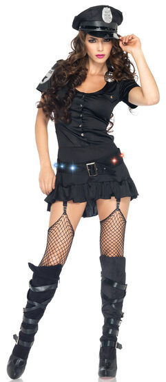Sexy Light Up Cop Costume