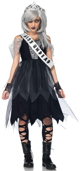 Teen Zombie Prom Queen Costume