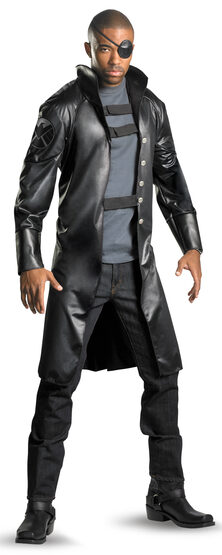 Mens Deluxe Nick Fury Avengers Adult Costume